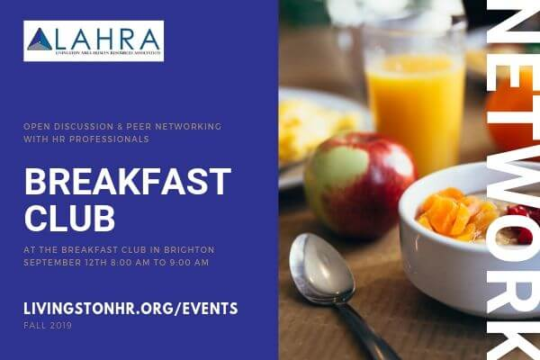 livingston human resources breakfast club networking