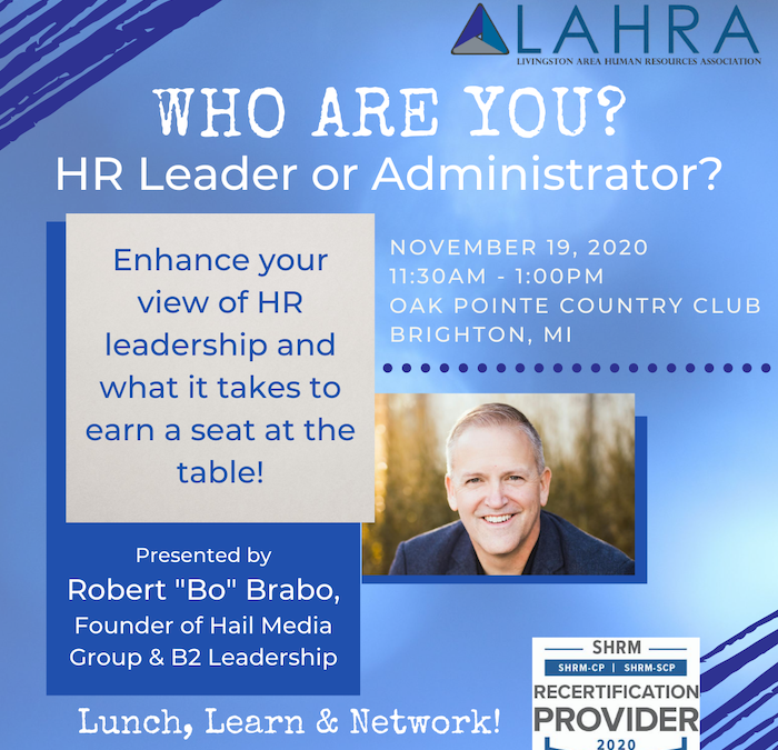 Who are You? HR Leader or Administrator?