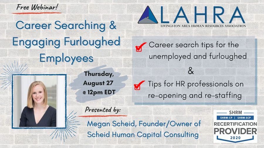 Career Searching & Engaging Furloughed Employees